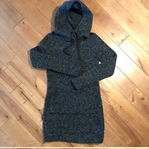 Fabletics Grey Hoodie Long Sweatshirt